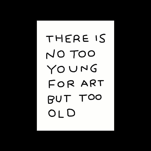There is no too young for art but too old, When is too old?